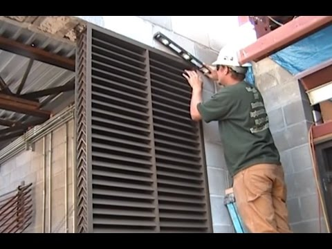 Ruskin Xp500 Extreme Weather Louver Installation Youtube