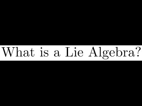 1.1 What is a Lie Algebra?