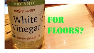 I old school cleaned the floor with vinegar and lived!