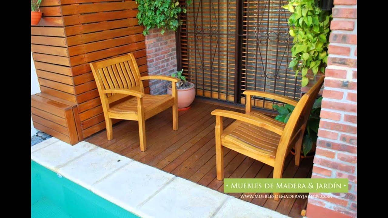 Sillones de teka muebles de madera y jard n com youtube - Muebles teka jardin ...