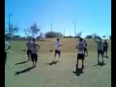Perry High School Boys Powder Puff Cheer Practice