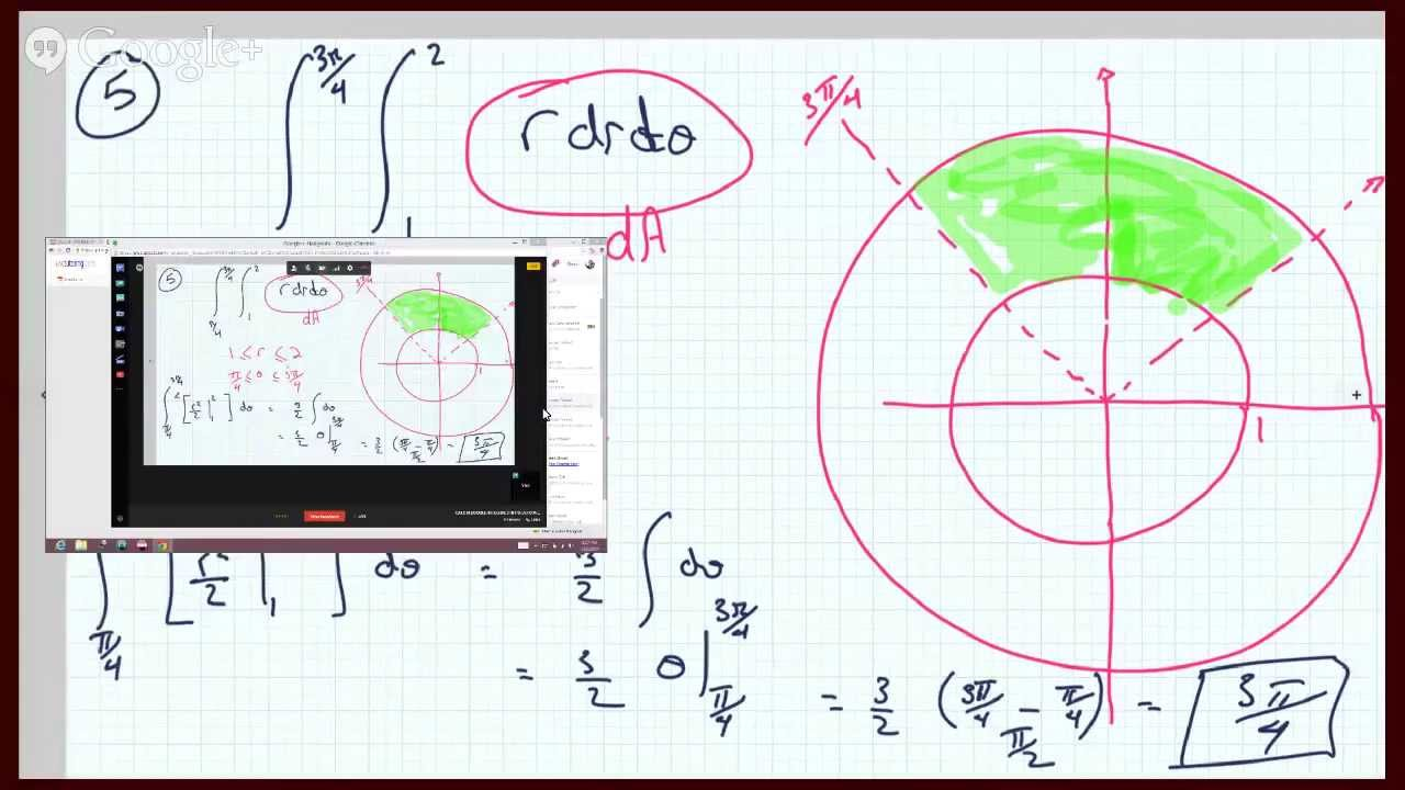 Set up DOUBLE INTEGRALS IN POLAR COORDINATES to calculate area in between 2  Circles