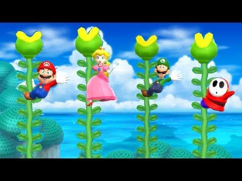 Mario Party 9 Step It Up - Mario vs Luigi vs Peach vs Shy Guy Master Difficulty| Cartoons Mee