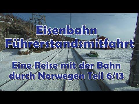 Führerstandsmitfahrt von Haugastøl über Ustaoset nach Geilo: Eine Reise mit der Bahn, Teil 6/13