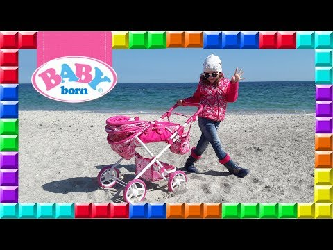 ❒ The pram for the Baby Born Doll Overview at the sea and tricks from Dasha))