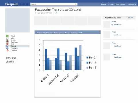 facebook powerpoint template (facepoint) - youtube, Modern powerpoint