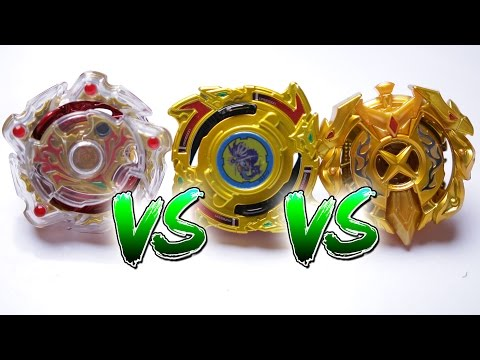 BEYBLADE BURST BATTLE   Amaterios VS Excalibur VS Dragoon - EPIC BATTLE ROYAL