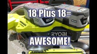 "Ryobi One+ Brushless (18v X2) 36 Volt 10"" Sliding Miter Saw Review P3650B"