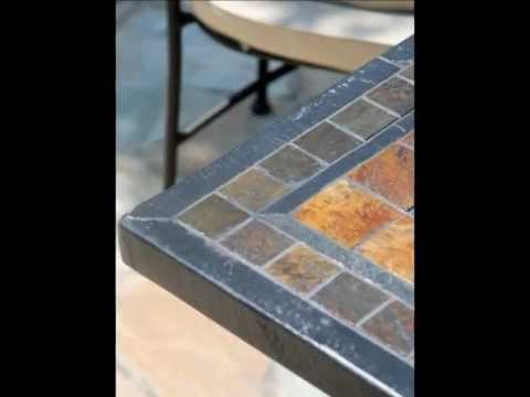TABLES EN MOSAIQUE | les tables en pierre de jardin Living\'ROC - YouTube