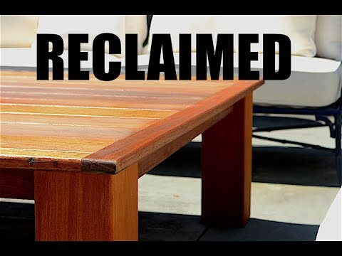 Giant Outdoor Coffee Table - Reclaimed Decking!