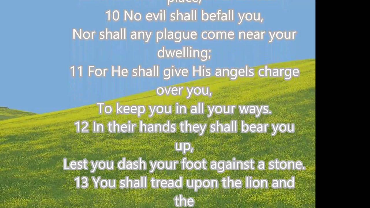 Free Fall Scripture Wallpaper Psalm 91 With Lyrics Youtube