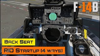 DCS World - F-14 Tomcat - Back Seat - RIO Startup (4 different ways)