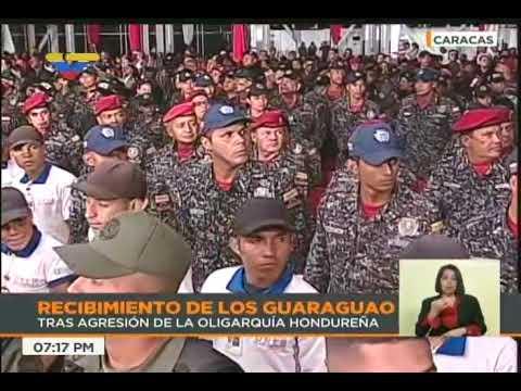 Presidente Maduro recibe a Los Guaraguao luego de ser expulsados de Honduras por su gobierno