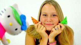 Простые поделки из бумаги! БАБОЧКИ- оригами для детей! Китти!(КИТТИ совсем скучно и не с кем поиграть! Ой! Кто это летит? Да это же пчелка, кажется с ней поиграть тоже не..., 2015-09-27T23:58:53.000Z)