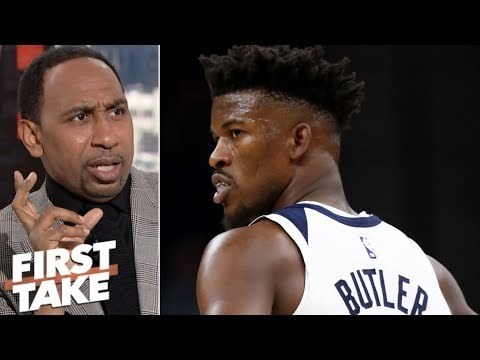 Jimmy Butler isn't worth 4 first-round picks to Rockets – Stephen A. | First Take