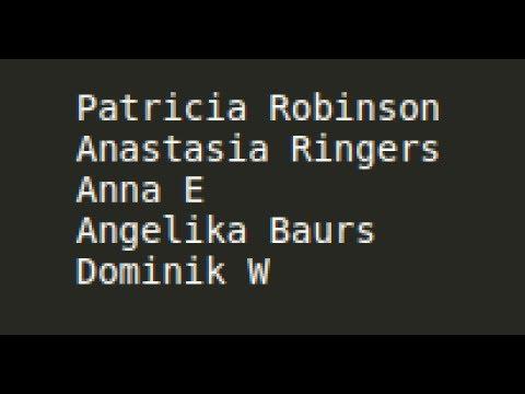 The Perfect YouTube Con: Patricia Robinson, Anastasia Ringers, Dominik W, Angelica Baur, and Anna E