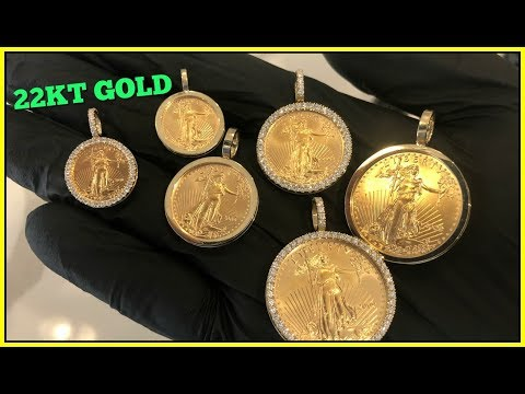 22kt GOLD Coin PENDANTS!!!
