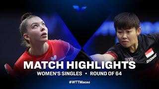 Mariia Tailakova vs Lin Ye | WTT Star Contender Doha 2021 | Women's Singles | Round of 64