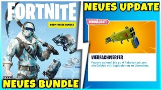 NEU! Exklusiver Deep Freeze Bundle mit 1.000 V-Bucks + Update Infos - Fortnite Battle Royale