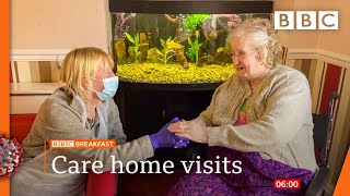Covid-19: Care home residents in England allowed two visitors from 12 April @BBC News live 🔴 BBC