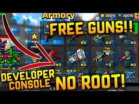 NEW PIXEL GUN 3D DEVELOPER CONSOLE! - FREE GUNS, FREE PETS UNLIMITED GEMS AND COINS! 2017 *WORKING*