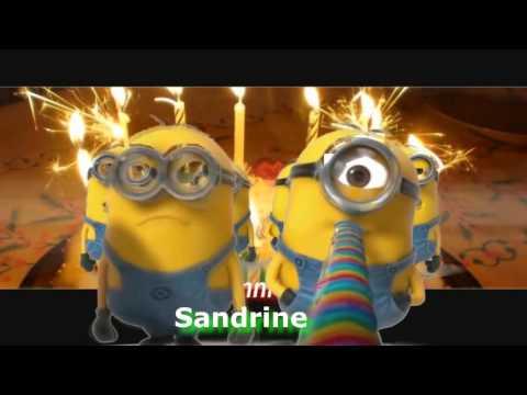MINIONS - Joyeux anniversaire personnalisé - (Sandrine)