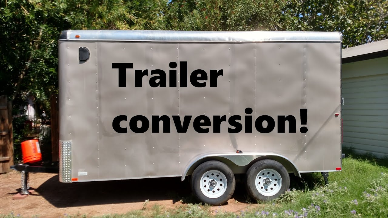 Cargo Trailer Converted To Camper Youtube
