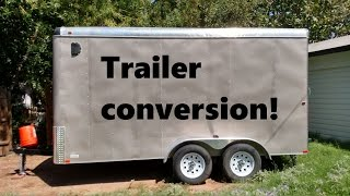 Cargo Trailer Converted To Camper