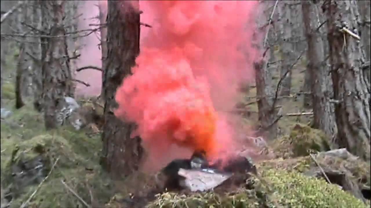 U041a U0440 U0430 U0441 U043d U044b U0439  U0434 U044b U043c - Homemade Coloured Smoke Bombs - Red