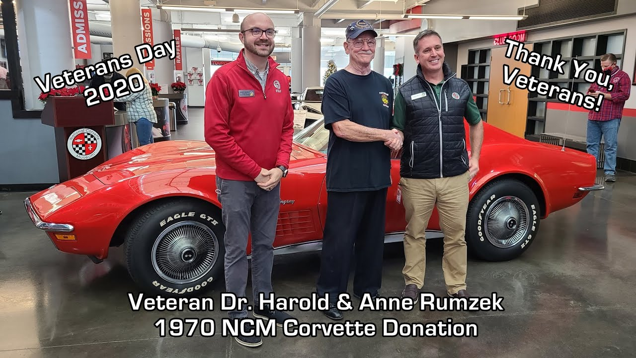 1970 Corvette NCM Donation Veterans Day 2020