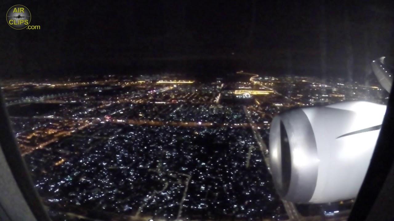 Endless Jeddah City Lights at Midnight! Saudita B787-9 arriving from Paris! [AirClips]