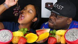 ASMR EATING FRUIT PLATTER | ASMR EATING NO TALKING MUKBANG | BEAUTY & THE BEAST ASMR
