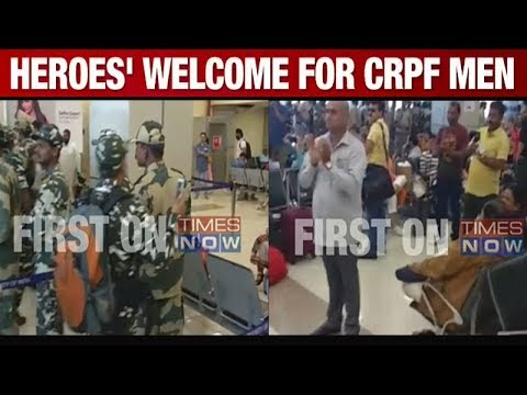 Watch: Standing ovation for CRPF jawans at Jammu airport
