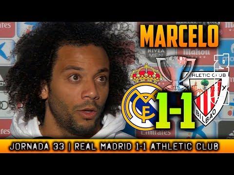 MARCELO reacción post ATHLETIC 1-1 REAL MADRID (18/04/2018) | LIGA JORNADA 33