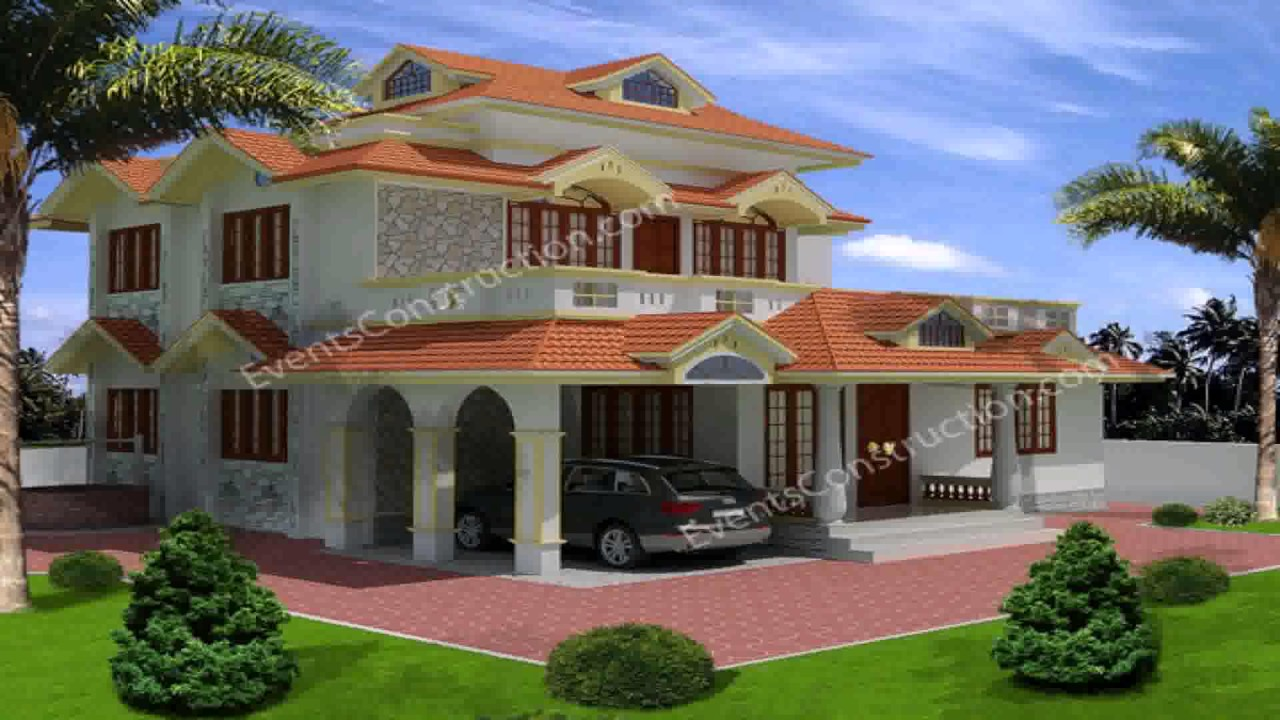 South indian house design youtube for Indian house outlook design