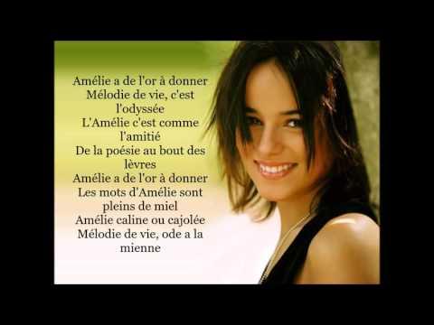 Alizée - Amélie M'a Dit Paroles