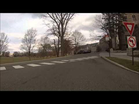 Driving through Downtown Blacksburg and Virginia Tech campus
