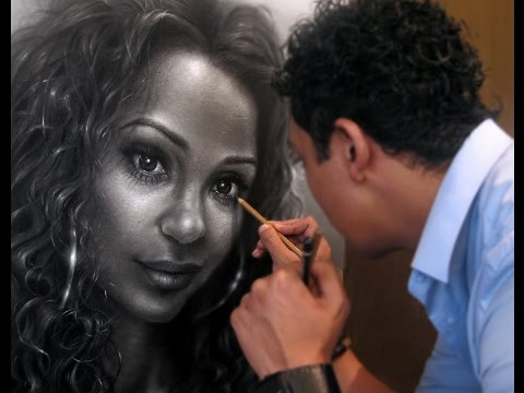 """Portrait Hyperrealism Pencil Drawing by Gerardo Monroy Artist - """"Love"""" Charcoal and graphite."""