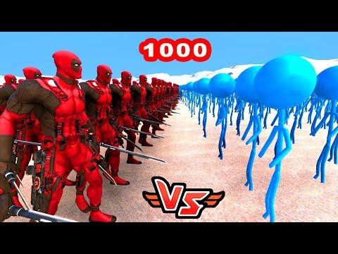 DEADPOOL VS 1000 LOLİPOP 😱 - Süper Kahramanlar