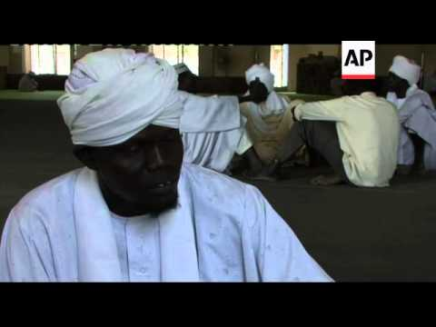 Sudanese Muslims at Friday prayers on last day of referendum