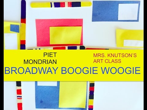 Mondrian Art Lesson and Activity: Broadway Boogie Woogie