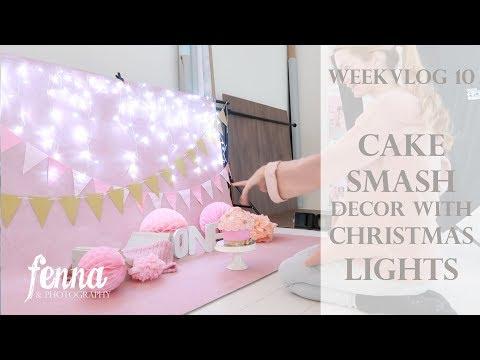Weekvlog 11 - Cake Smash Photoshoot with Christmas Lights