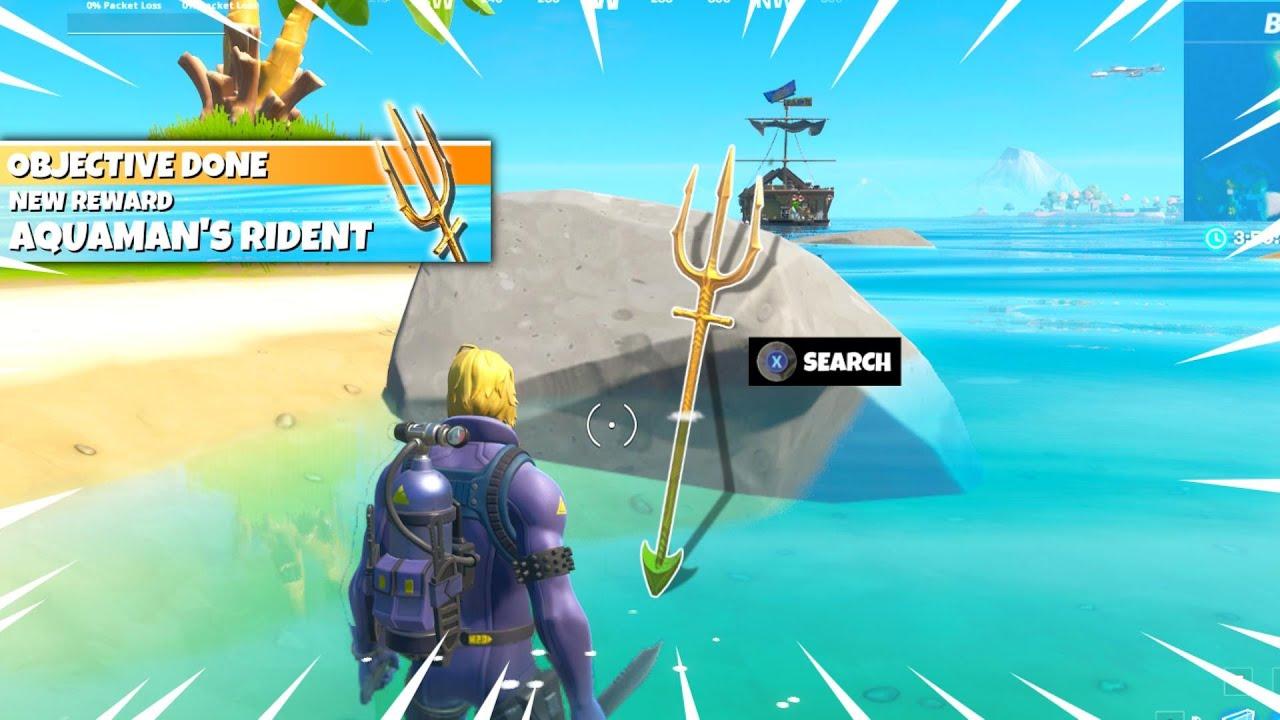 Unlock Aquaman's TRIDENT PICKAXE in Fortnite! (EASY)