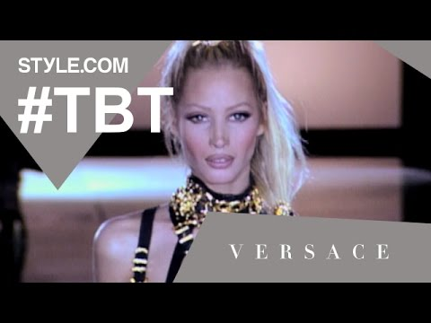 """Gianni Versace's Fall 1992 """"Miss S&M"""" Show - #TBT With Tim Blanks - Style.com"""