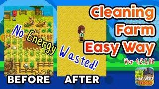 Gambar cover Membersihkan Halaman Tanpa Buang Energi!?   Cleaning Farm Easy Way Harvest Town