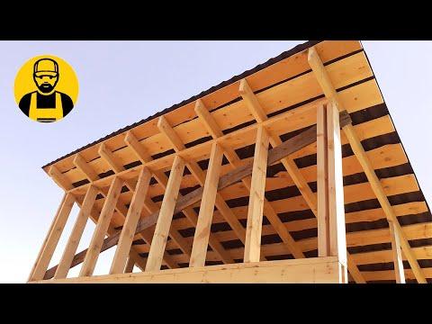 Односкатная крыша: за и против, и почему это неэкономно