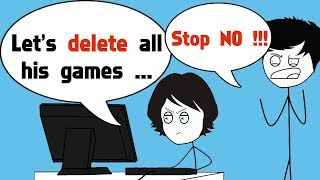 When your Little Sister deletes all of your Games