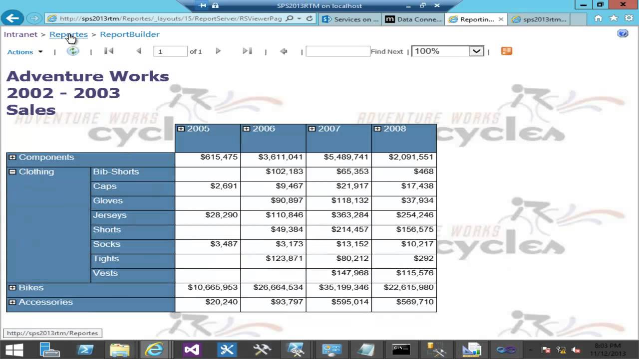 SQL Reporting Services con SharePoint 2013 - YouTube