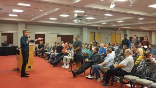 Dr. Frank Turek answers questions from students at The Ohio State University