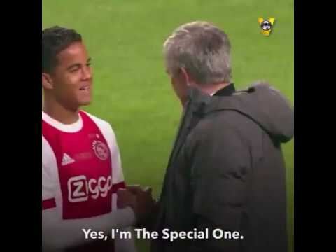 What Jose Mourinho tell's Justin kluivert on Ajax vs mutd